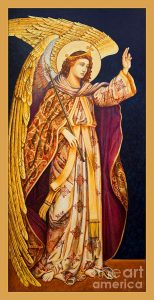 Archangel Gabriel Painting by Ann Chapin